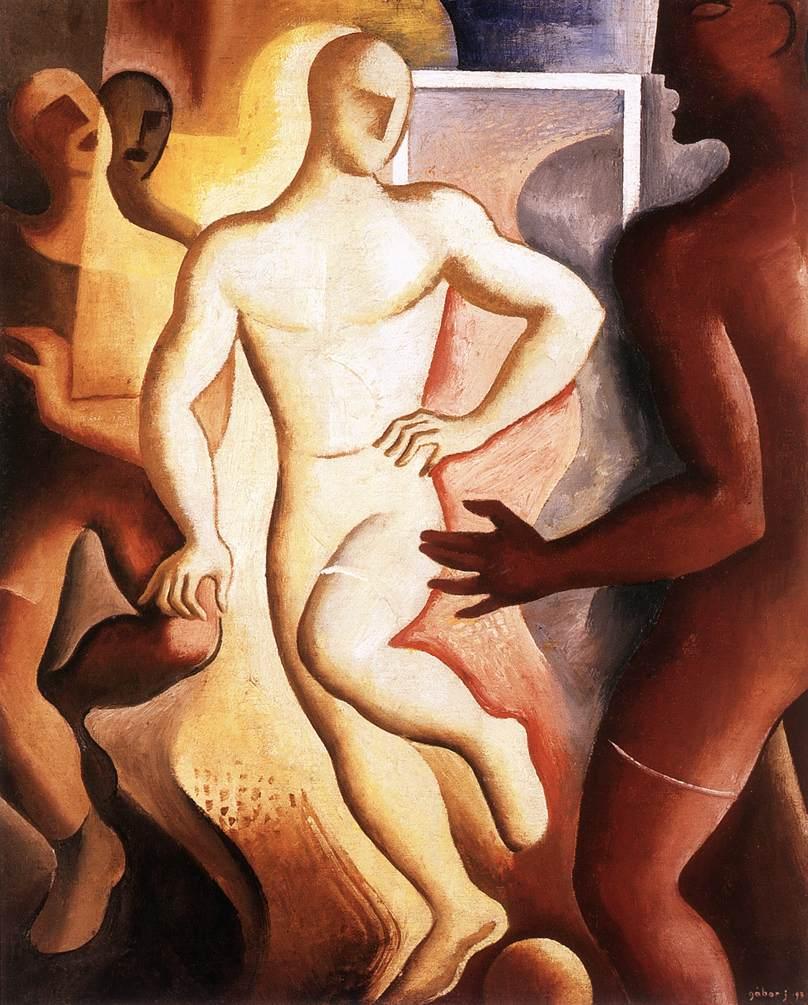 Football Players 1931 | Jeno Gabor | oil painting
