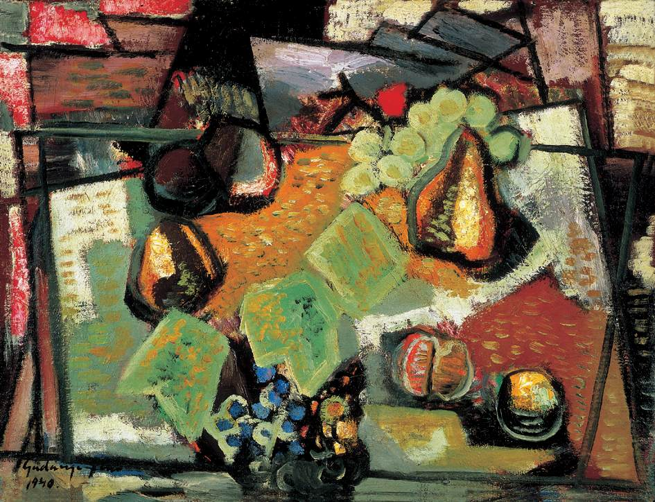 Fruit Still life 1940 | Jeno Gadanyi | oil painting