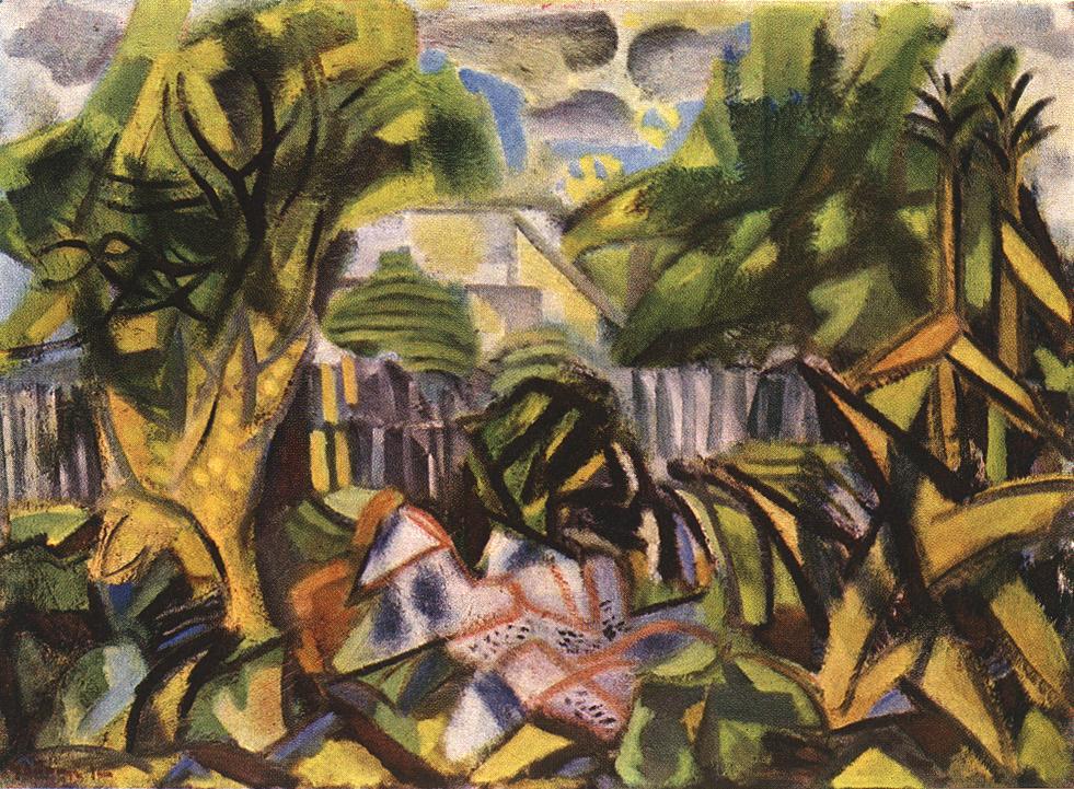 Farmstead at Bekasmegyer 1954 | Jeno Gadanyi | oil painting