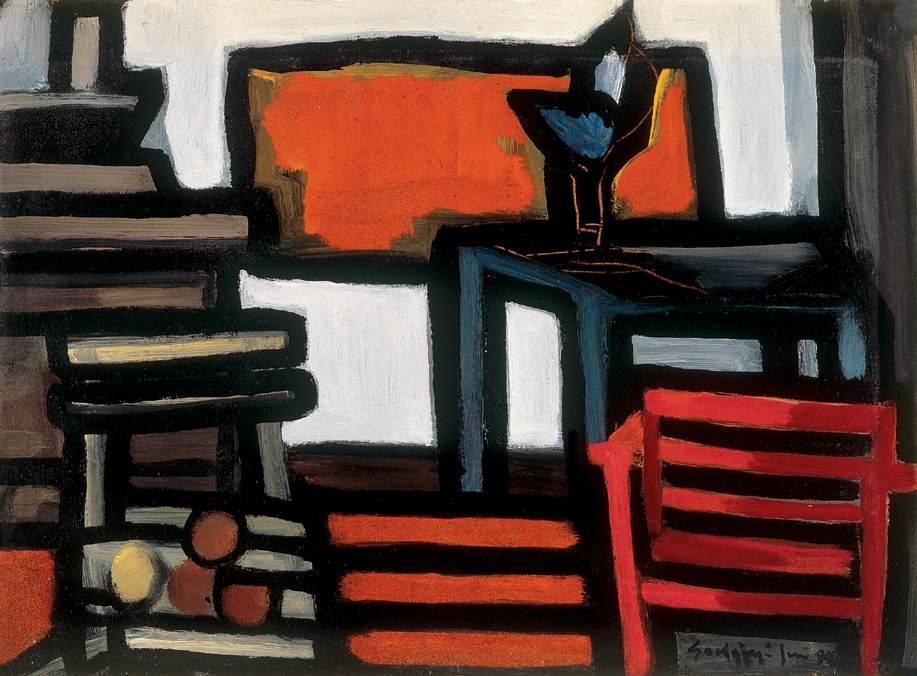 Black Still life | Jeno Gadanyi | oil painting