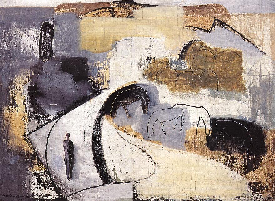 Horses 1932 | Jeno Gadanyi | oil painting