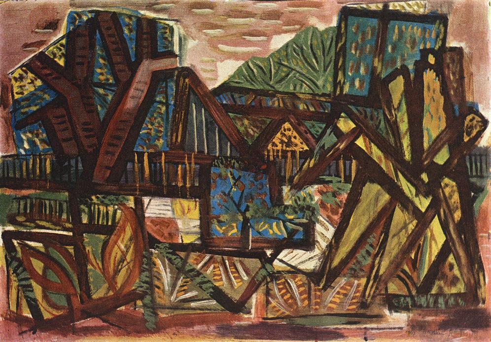 Landscape at Bekasmegyer 1947 | Jeno Gadanyi | oil painting