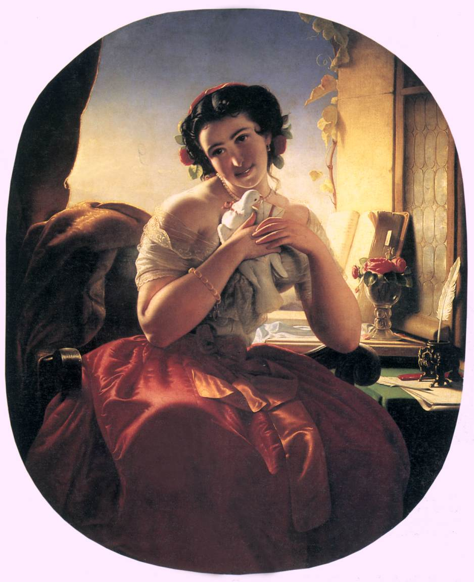 Homing Pigeon 1856 | Jozsef Borsos | oil painting