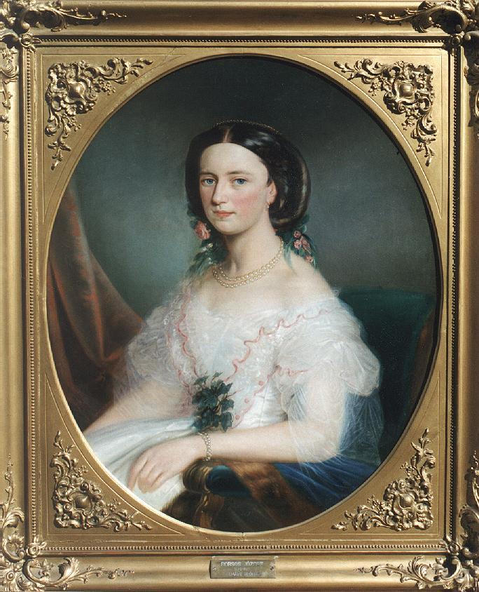 Countess Almasy 1852 | Jozsef Borsos | oil painting
