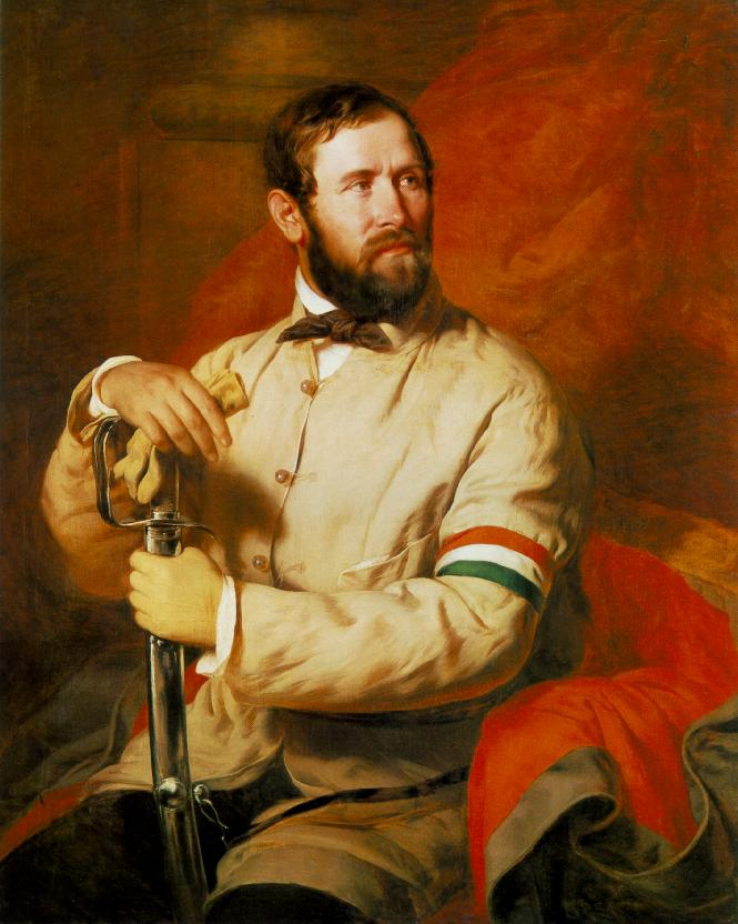 Officer of the National Guard 1848 | Jozsef Borsos | oil painting