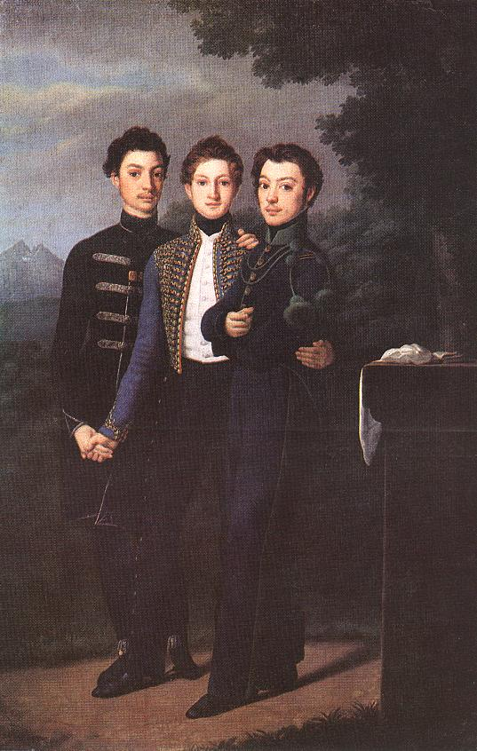 Three Brothers 1828 | Jozsef Czauczik | oil painting