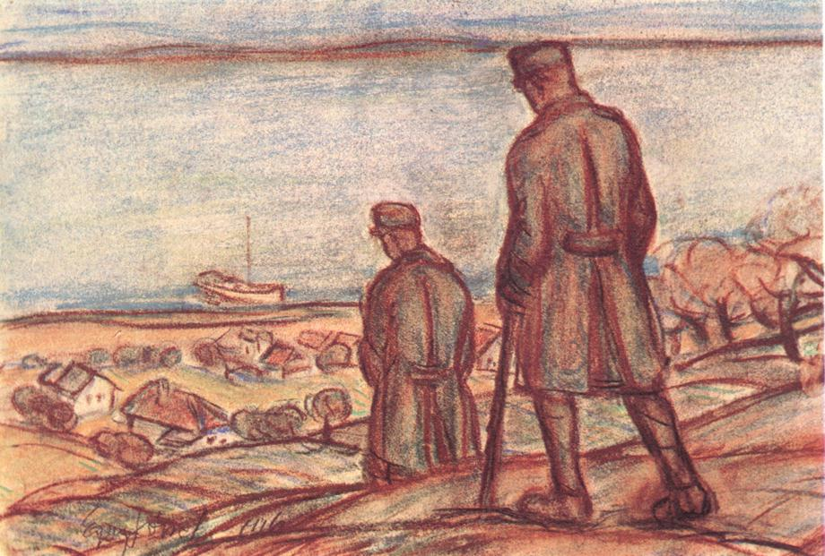 Soldiers near Lake Balaton 1916 | Jozsef Egry | oil painting