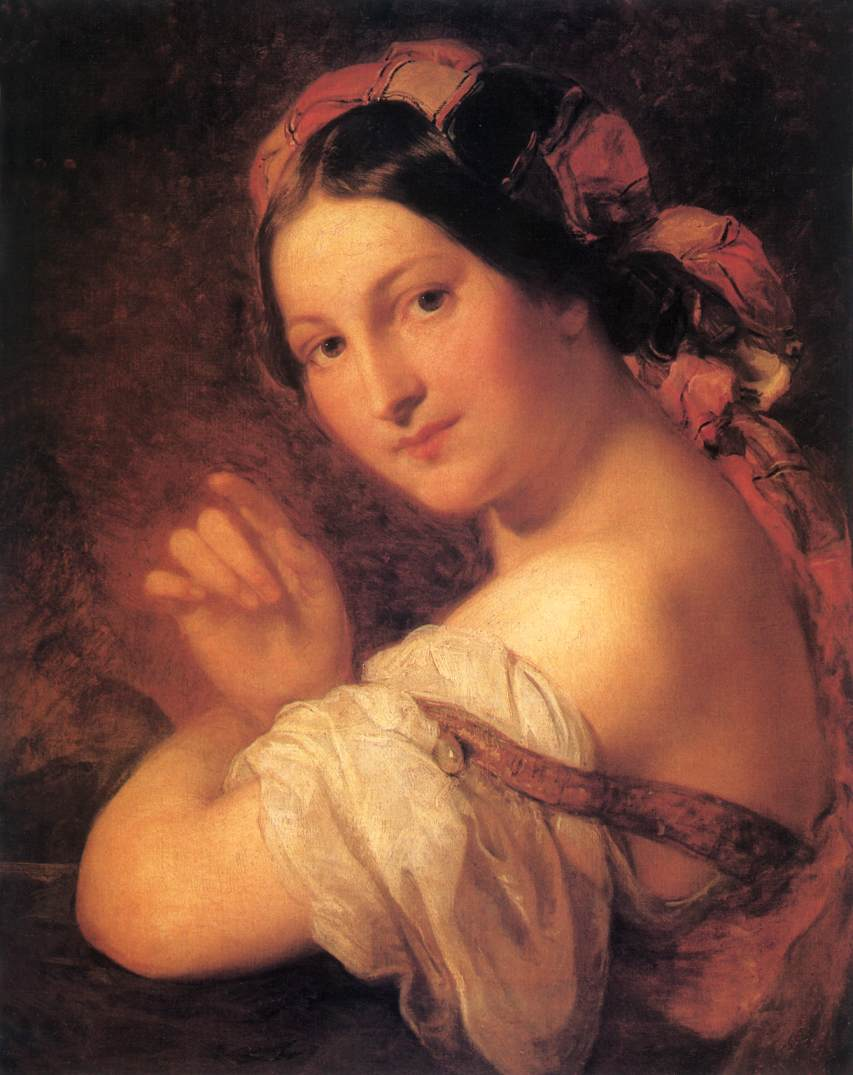 Portrait of a Woman 1846 50   Karoly Brocky   oil painting