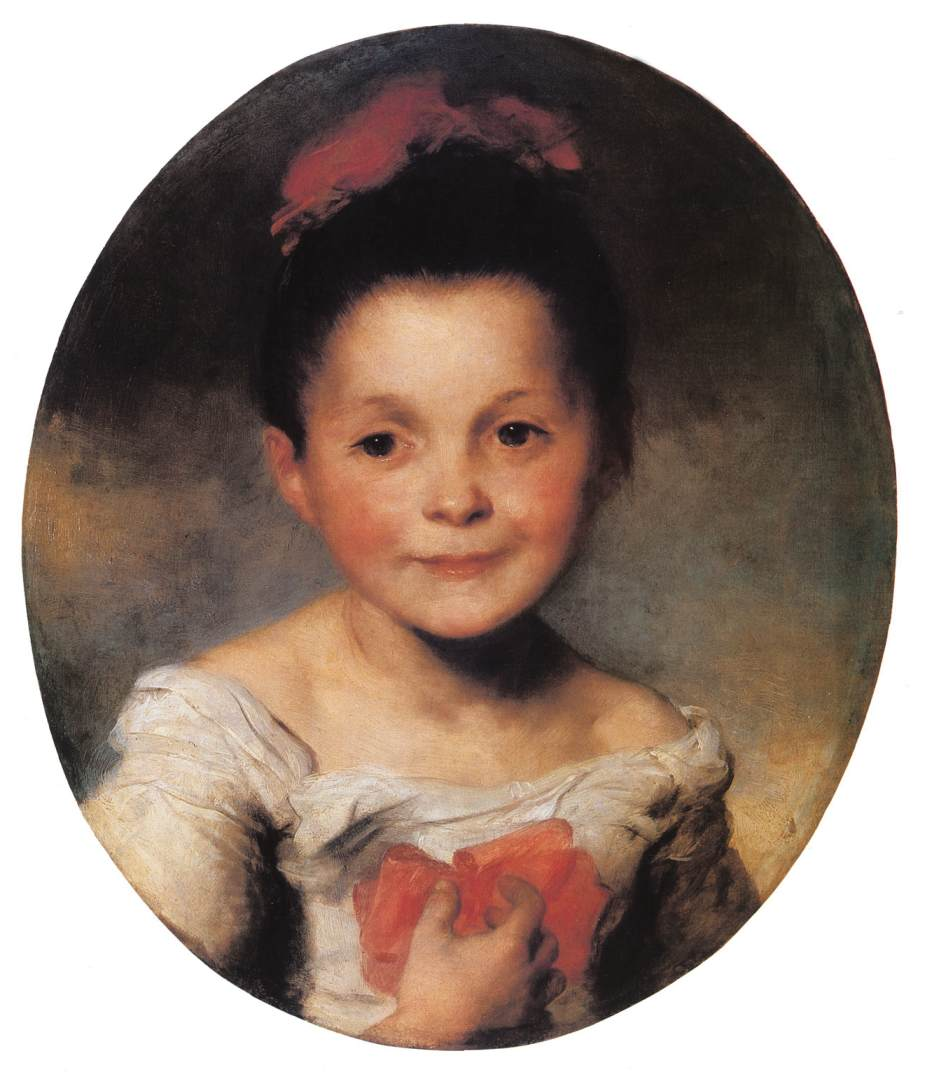 Portrait of a Little Girl 1850 55   Karoly Brocky   oil painting