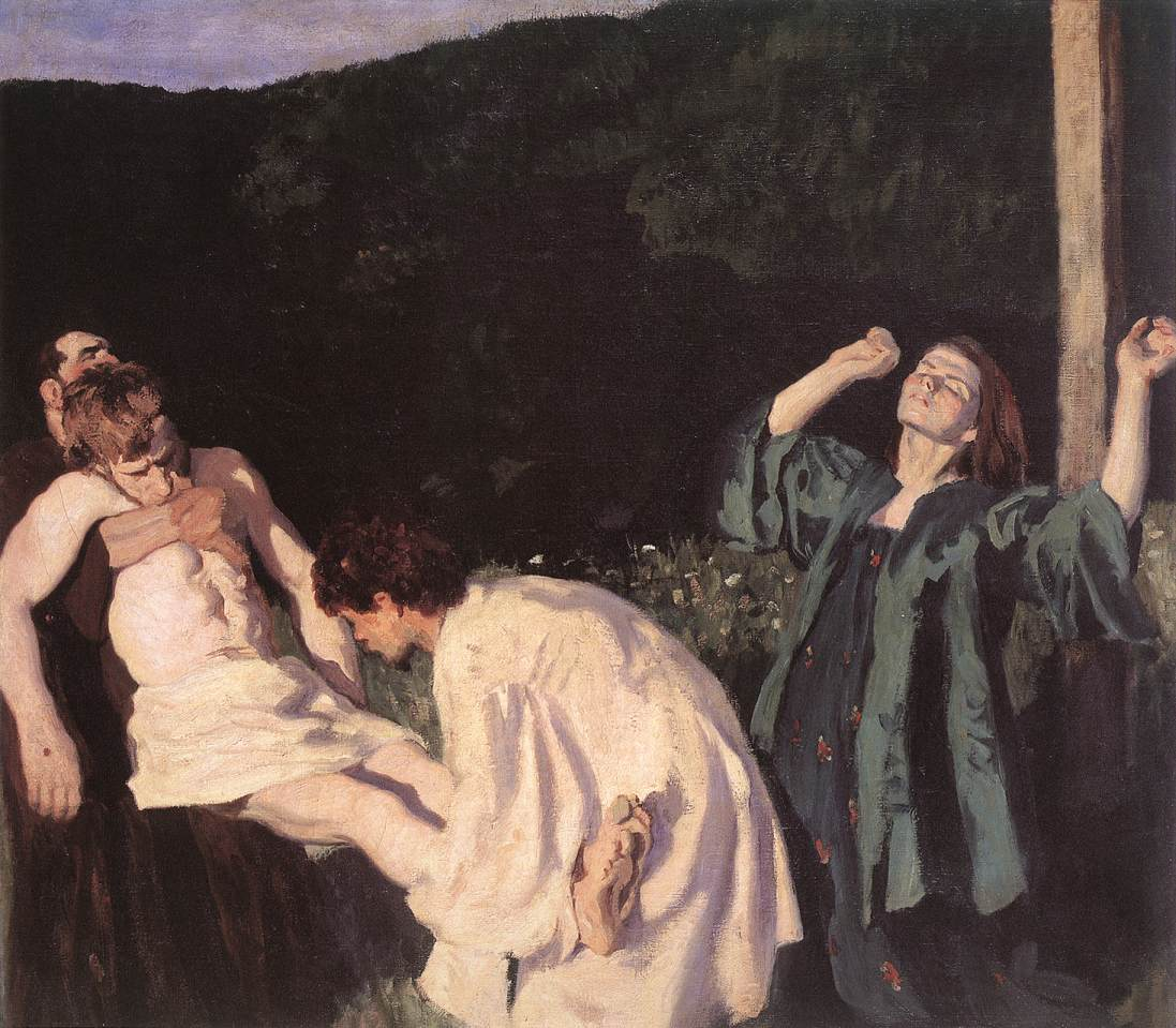 Deposition from the Cross 1903 | Karoly Ferenczy | oil painting