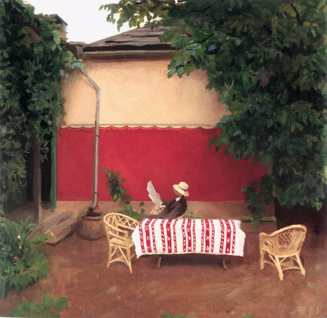 Red Wall 1910 | Karoly Ferenczy | oil painting