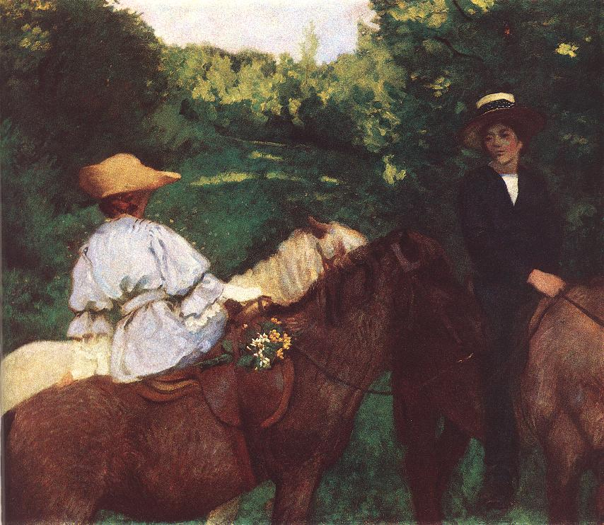 Riding Children 1905 | Karoly Ferenczy | oil painting