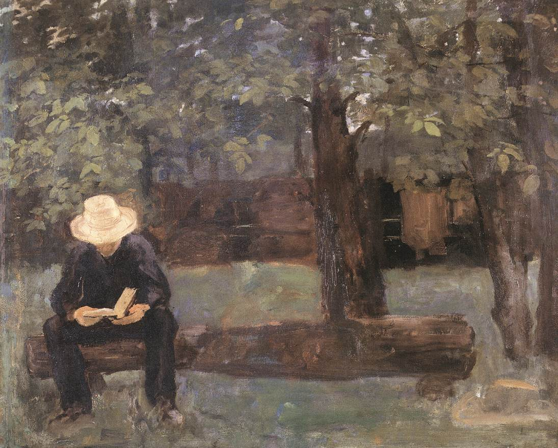 Man Sitting on a Log 1895 | Karoly Ferenczy | oil painting