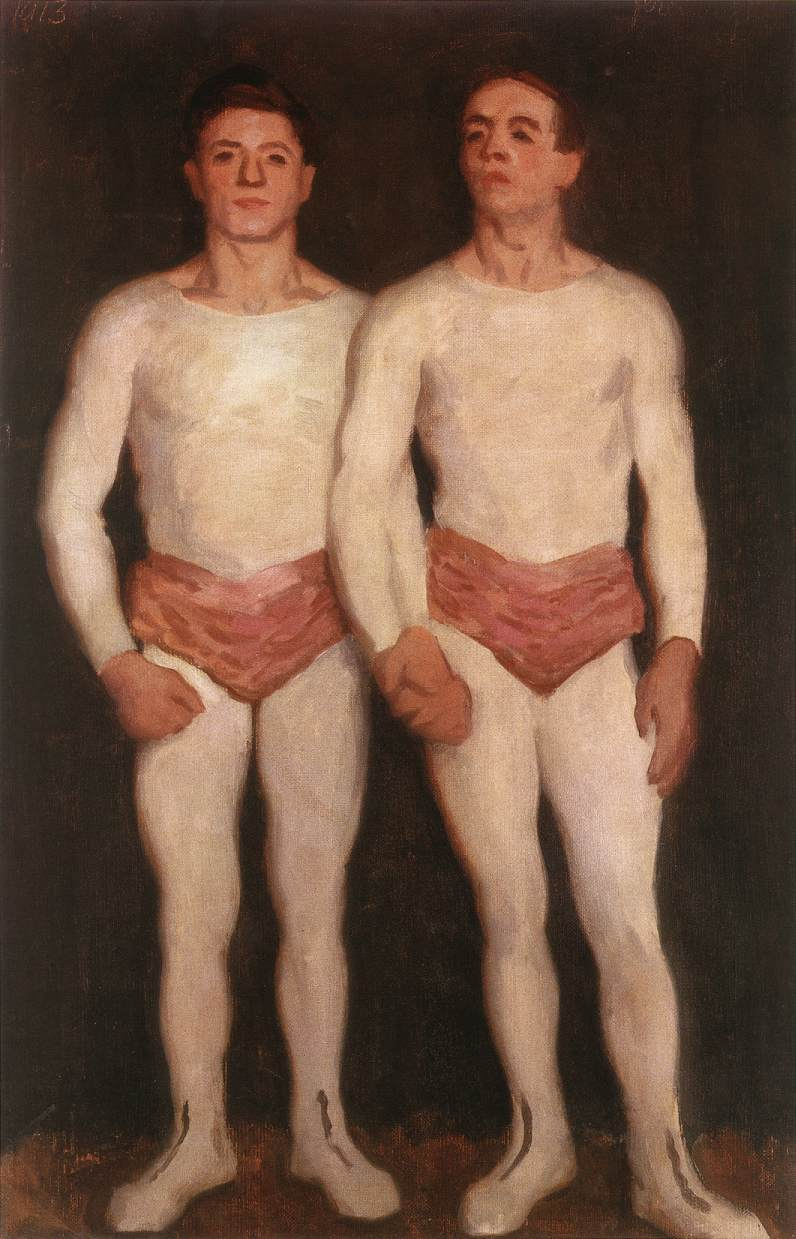 Acrobats 1913 | Karoly Ferenczy | oil painting