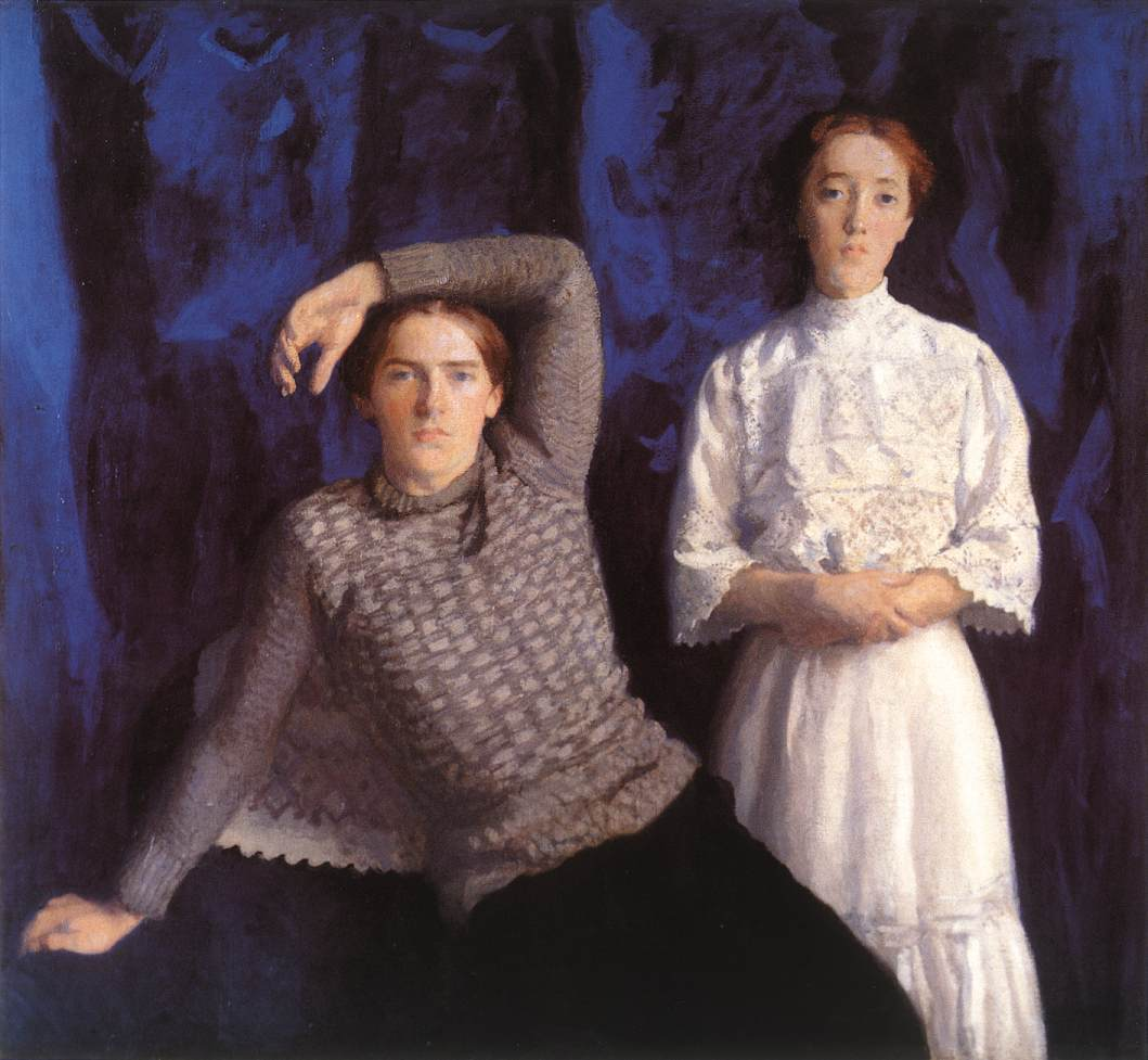 Double Portrait (Beni and Noemi) 1908 | Karoly Ferenczy | oil painting
