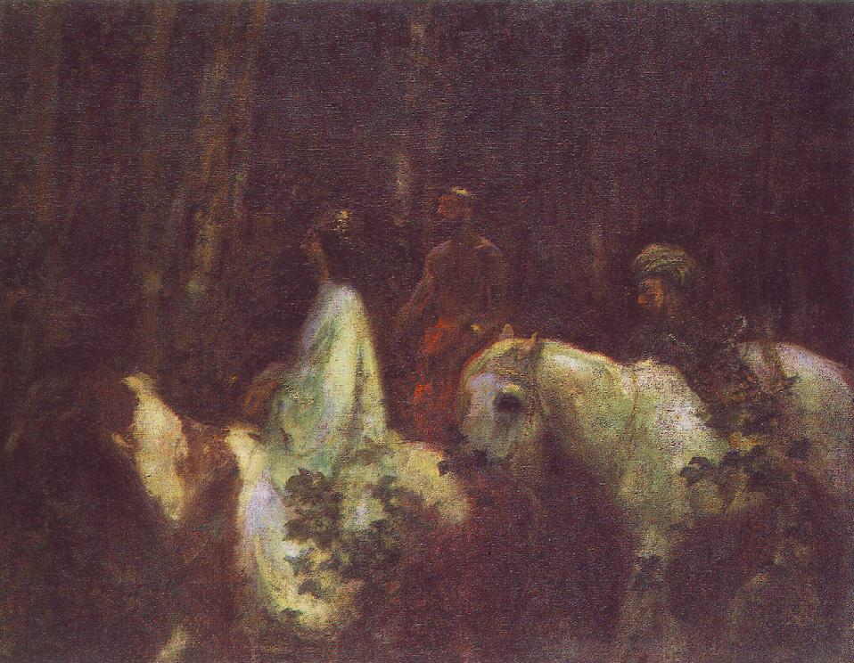 The Three Magi 1898 | Karoly Ferenczy | oil painting