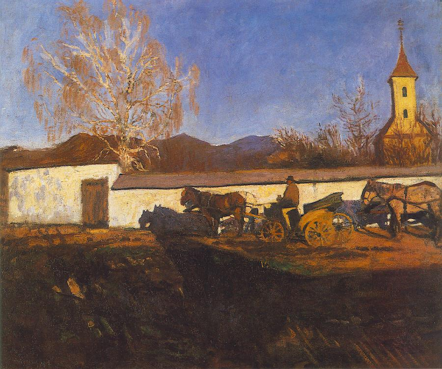 Evening in March 1902 | Karoly Ferenczy | oil painting