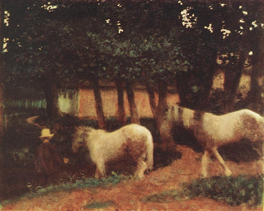 Evening Mood with Horses 1899 | Karoly Ferenczy | oil painting