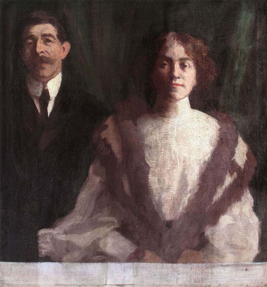 Cezar Herrer and his Wife at Nagybanya 1904 | Karoly Ferenczy | oil painting