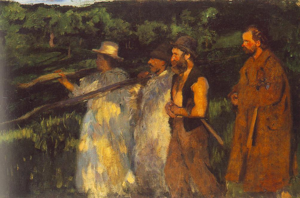 Woodsmen Returning Home 1899 | Karoly Ferenczy | oil painting
