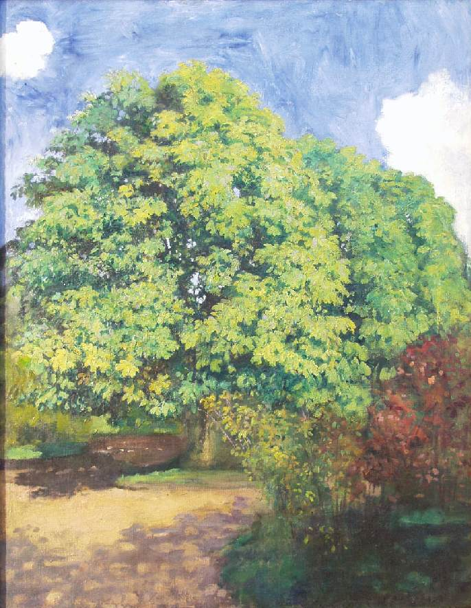 Chestnut Trees 1900 | Karoly Ferenczy | oil painting