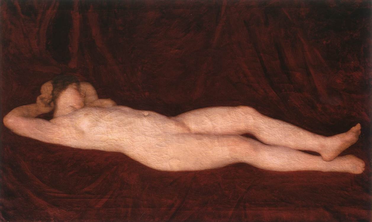 Nude in Red Background 1912 | Karoly Ferenczy | oil painting