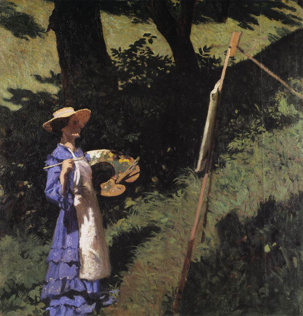 The Woman Painter 1903 | Karoly Ferenczy | oil painting