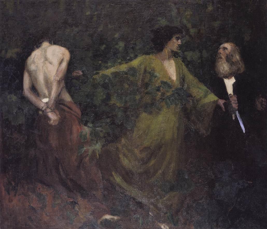 Isaac's Sacrifice (Sacrifice of Abraham) 1901 | Karoly Ferenczy | oil painting