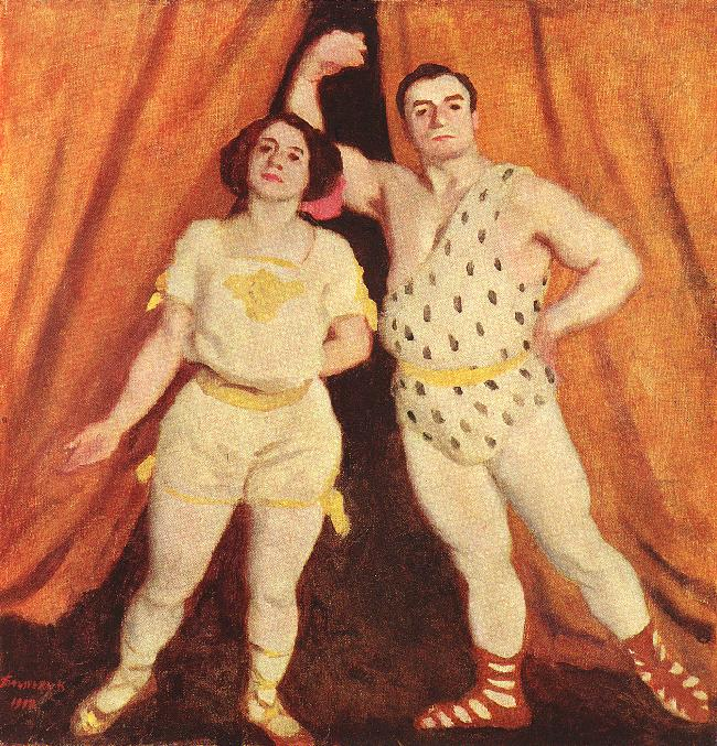Acrobats 1912 | Karoly Ferenczy | oil painting