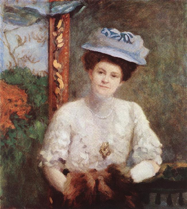 Portrait of Mrs. Vilmos Grunwald 1908 | Karoly Ferenczy | oil painting