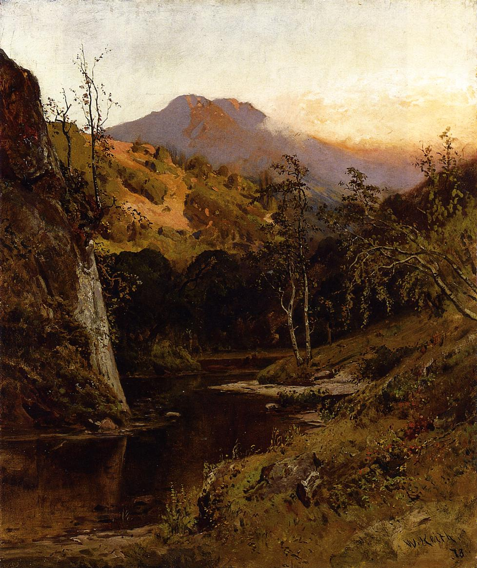 Mount Tamalpias from Lagunitas Creek 1878 | Keith William | oil painting