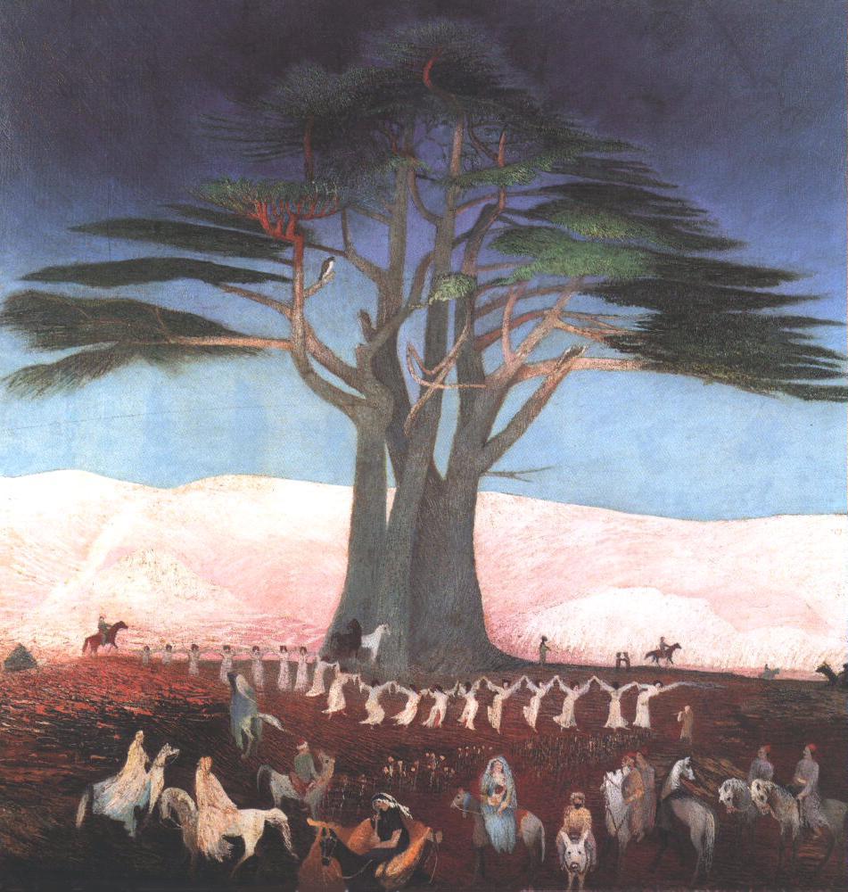 Pilgrimage to the Cedars in Lebanon 1907 | Kosztka Tivdar Csontvary | oil painting