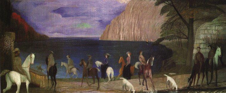 Riding at the Beach 1909   Kosztka Tivdar Csontvary   oil painting