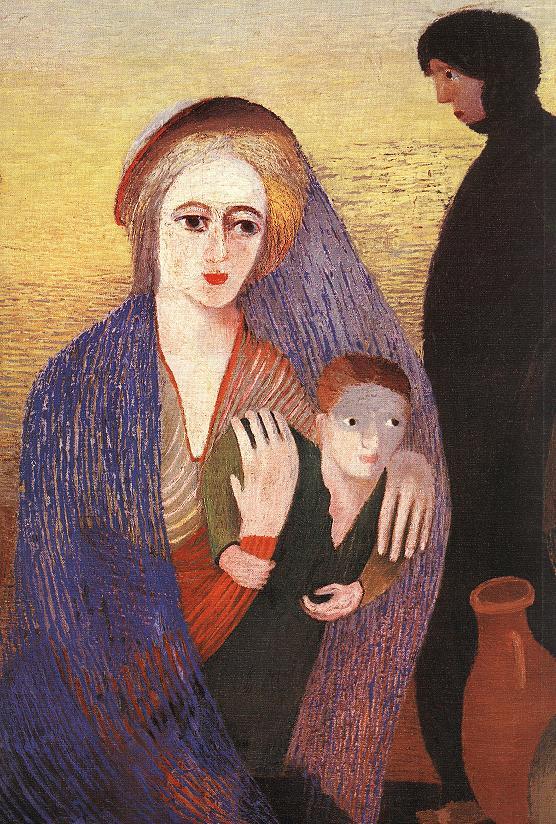 Mary's Well at Nazareth (detail) 1908   Kosztka Tivdar Csontvary   oil painting