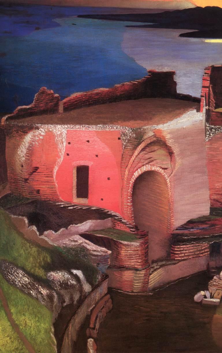 Ruins of the Greek Theatre in Taormina (detail) 1904 05 | Kosztka Tivdar Csontvary | oil painting