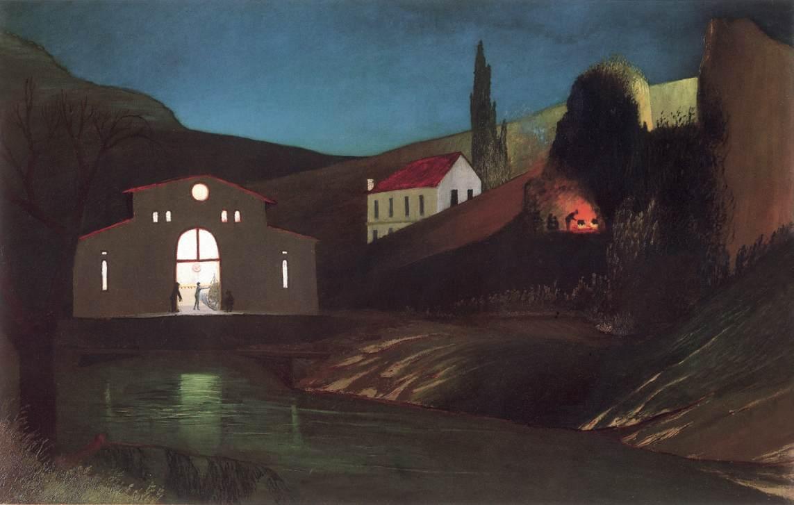 Electric Station at Jajce at Night 1903 | Kosztka Tivdar Csontvary | oil painting