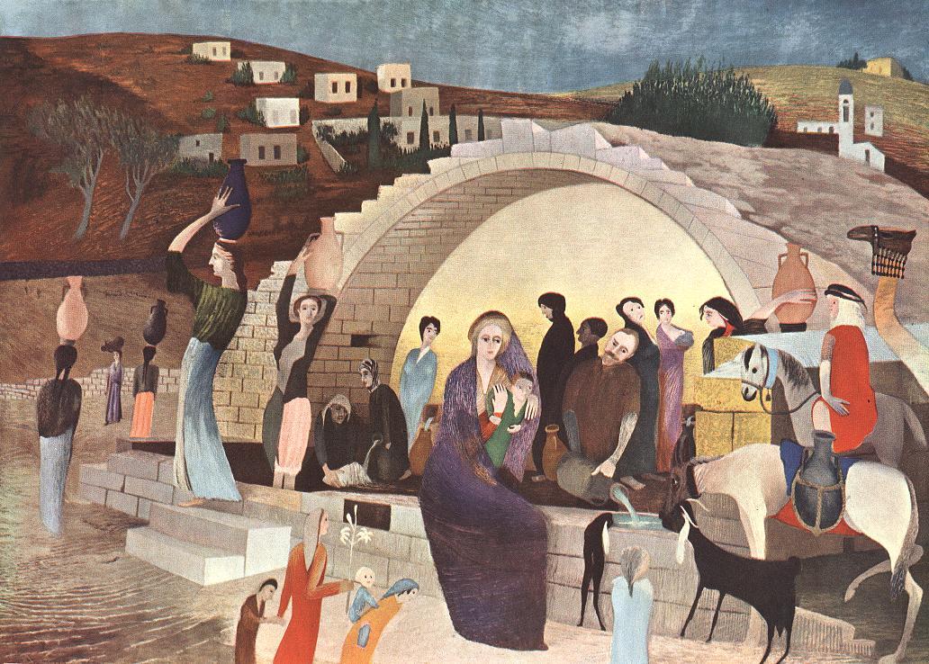 Mary's Well at Nazareth 1908 | Kosztka Tivdar Csontvary | oil painting