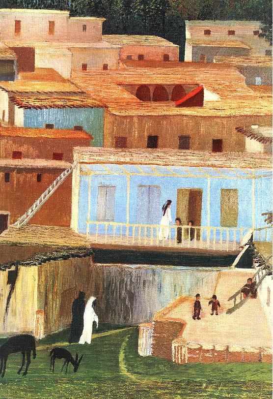 Baalbek (detail) 1906 | Kosztka Tivdar Csontvary | oil painting