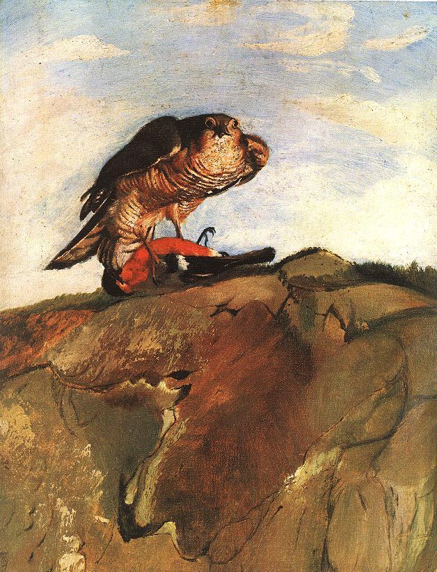 Bird of Prey 1893 | Kosztka Tivdar Csontvary | oil painting