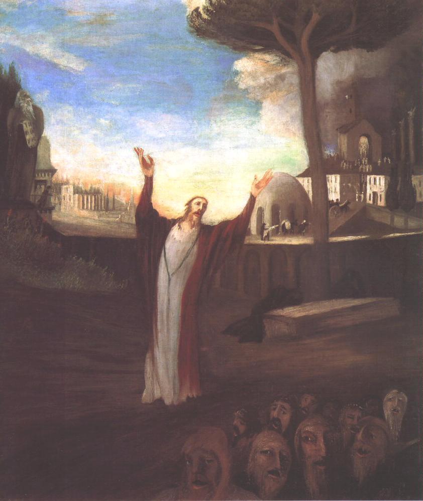 Praying Saviour 1903 | Kosztka Tivdar Csontvary | oil painting