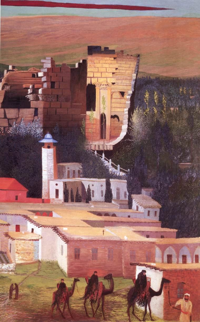 Baalbek (detail) 1906 4 | Kosztka Tivdar Csontvary | oil painting