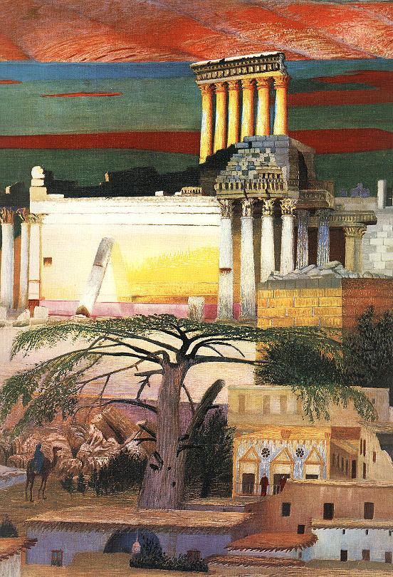 Baalbek (detail) 1906 2 | Kosztka Tivdar Csontvary | oil painting