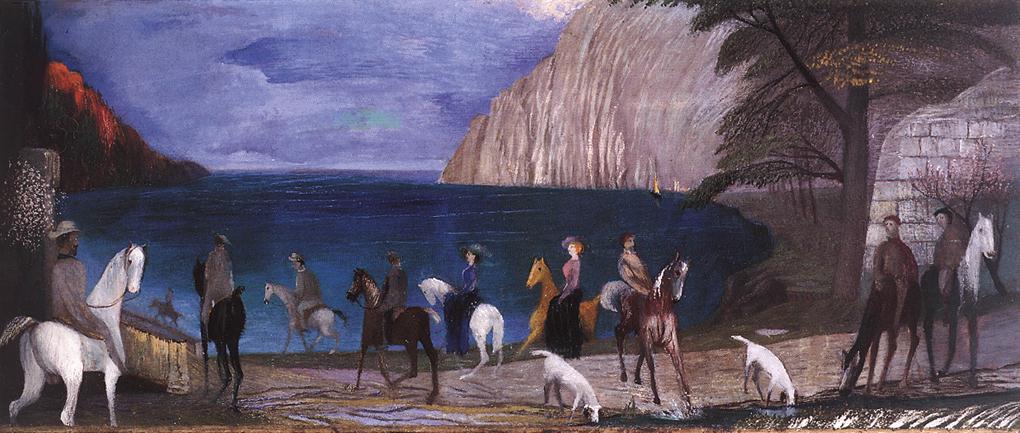 Riders on the Seashore 1909 | Kosztka Tivdar Csontvary | oil painting