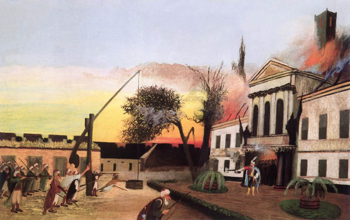 Zrinyi Launches the Final Attack 1903 | Kosztka Tivdar Csontvary | oil painting