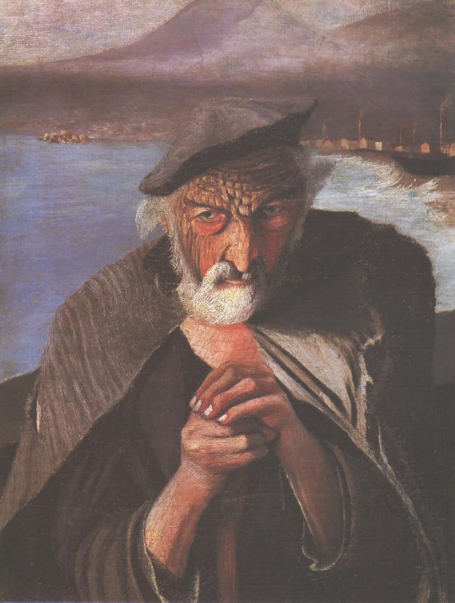 Old Fisherman 1902 | Kosztka Tivdar Csontvary | oil painting