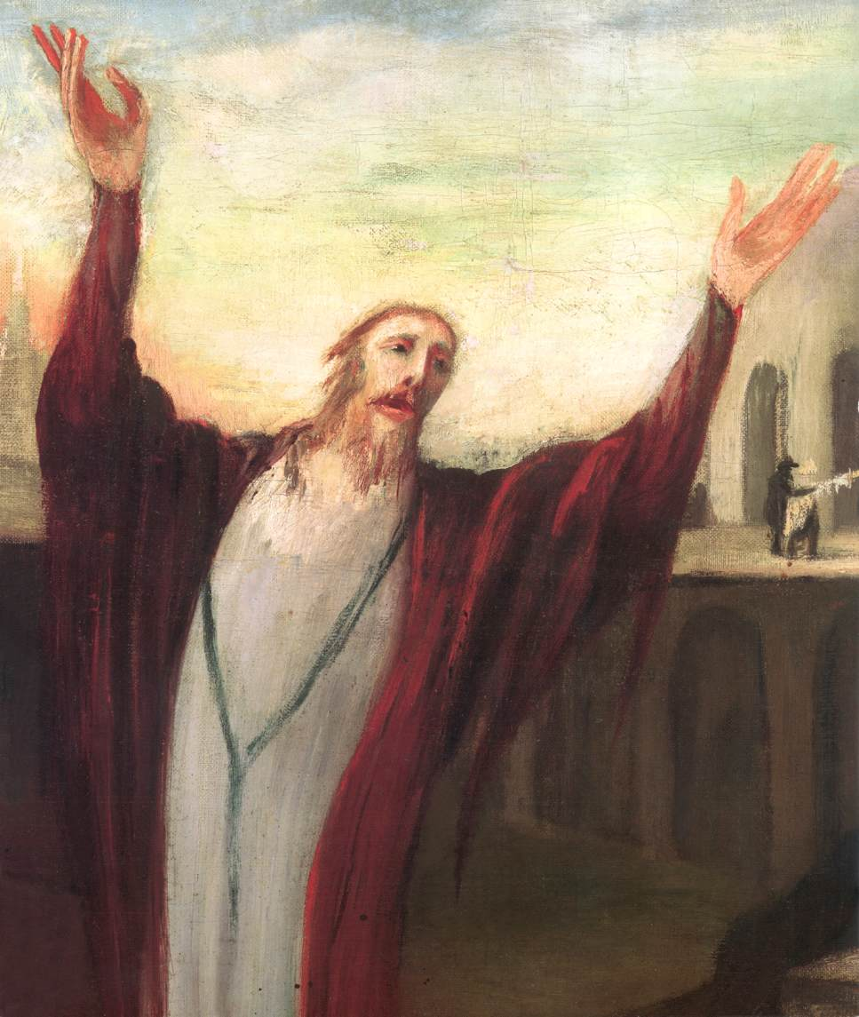 Praying Saviour (detail) 1903 | Kosztka Tivdar Csontvary | oil painting