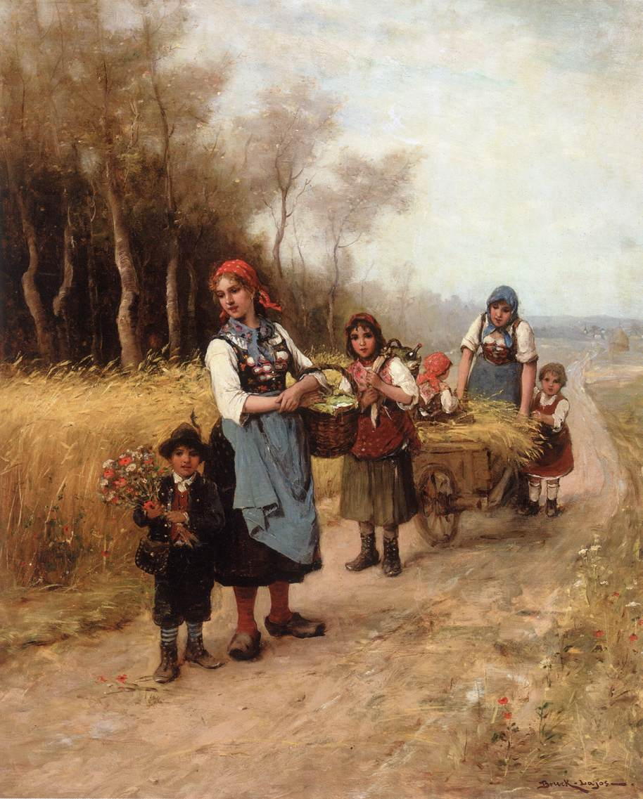 Going to the Market | Lajos Bruck | oil painting