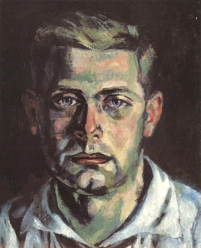 Portrait of Otto Schwarz 1919 | Marcell Breuer | oil painting