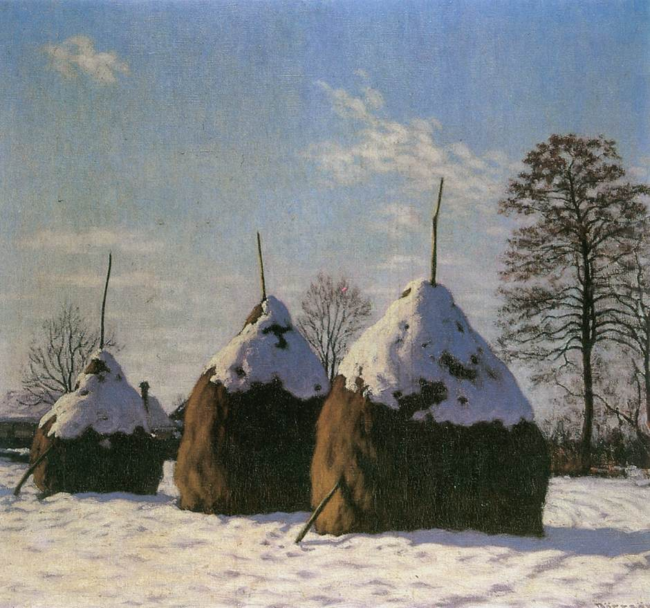 Haystacks 1910 | Samu Bortsok | oil painting