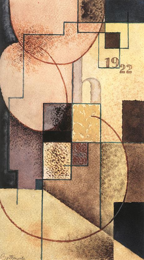 Geometrical Compositioon 1922 | Sandor Bortnyik | oil painting